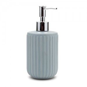 Ντισπένσερ μπάνιου stoneware μπλε 18cm 10-222-001