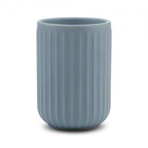 Θήκη για οδοντόβουρτσες stoneware μπλε 11cm 10-222-002