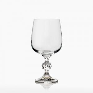 Σετ 6τμχ Ποτήρια Κρασιού Κολονάτα Claudia Κρυστάλλινα 230ml Bohemia