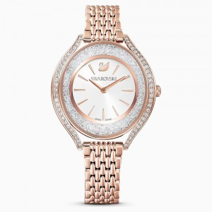 Swarovski Crystalline Aura Ρολόι, Metal Bracelet, Rose Gold Tone, Rose-Gold Tone Pvd (5519459)