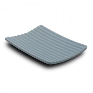 Σαπουνοθήκη stoneware μπλε 13cm 10-222-003