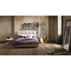Ντυμένο Κρεβάτι Faidra 160x200 με Αποθηκευτικό Χώρο