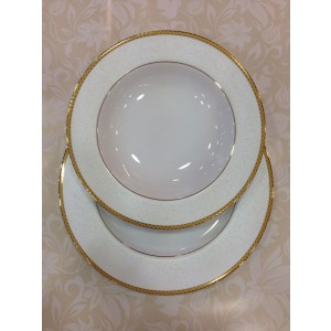 Σερβίτσιο Πιάτων 72 τεμ. Πορσελάνη Fedra Gold-Χρυσό (613)