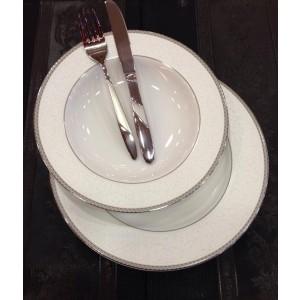 Σερβίτσιο Πιάτων 72 Τεμαχίων Bohemian House Fedra Platinum 613