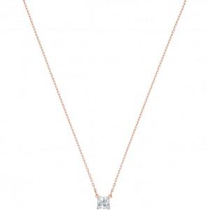 Swarovski Κολιέ Επίχρυσο Ροζ Χρυσό, Attract (5510698)