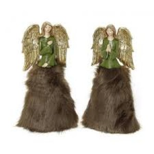 Αγγελάκια Πράσινο Με Καφέ Γούνα 19εκ. Assort. Espiel (MT2409K2)