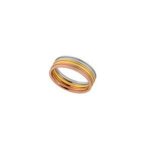 Δαχτυλίδι Ατσάλινο Visetti (HT-WRG001SGR)