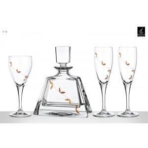 Σετ Γάμου 4 Τμχ Καράφα, Ποτήρι Κρασιού & 2 Ποτήρια Σαμπάνιας Capolavoro (Γ42)