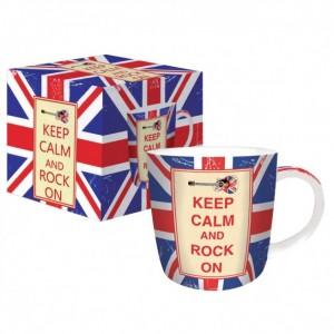 Κούπα Πορσελάνη Keep Calm & Rock On Marva (350ml)