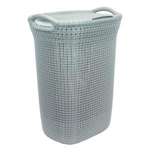 Curver Knit Καλάθι Απλύτων Γαλάζιο 57lt(45x34x61cm)