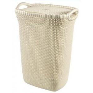 Curver Knit Καλάθι Απλύτων Μπεζ  57lt(45x34x61cm)
