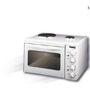 FANCY 0005 Κουζινάκι Επιτραπέζιο, 2 Εστιών,Αντιστάσεων, 1500 Watt, Λευκό