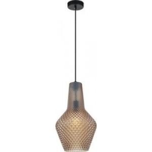 Viokef Φωτιστικό Οροφής Γυάλινο Καφέ Soleto 4169302