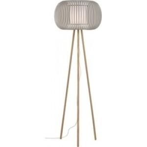 Viokef Φωτιστικό Δαπέδου Μονόφωτο Λευκό - Μπεζ Δ50cm Υ.150cm Iris 4160900