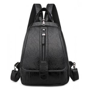Γυναικεία τσάντα πλάτης μαύρη LBAG-0002
