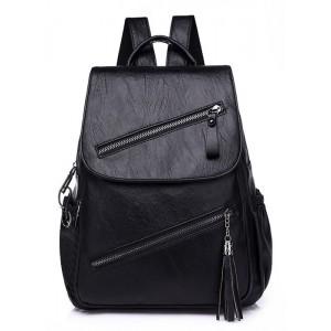 Γυναικεία τσάντα πλάτης LBAG-0005, μαύρη LBAG-0005