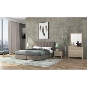 Ντυμένο Κρεβάτι Νο66 160x200 Με Αποθηκευτικό Χώρο