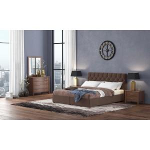 Ντυμένο Κρεβάτι Νο67 160x200 Με Αποθηκευτικό Χώρο