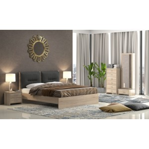 Κρεβάτι Νο8 Διπλό 160Χ200εκ. Latte