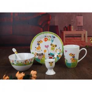 Παιδικό Σερβίτσιο Φαγητού 5τμχ. Πορσελάνη Happy Day Cryspo Trio