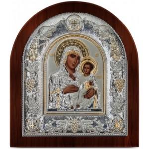 Ασημένια Εικόνα Παναγία Ιεροσολυμίτισσα Ξύλινη Prime Silver (SA101BG)