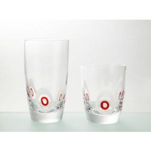 Σετ ποτήρια νερού 6τμχ Cryspo Trio Poua Red