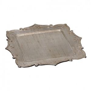 Δίσκος Τετράγωνος Ασημί Αντικέ 38εκ. Espiel (TIK132)