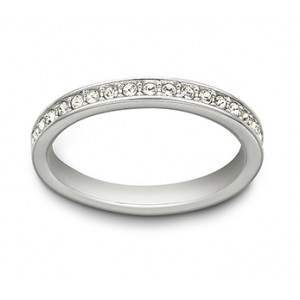 Swarovski Δαχτυλίδι Βέρα No58 Επιπλατινωμένο, Rare Ring (1121068)