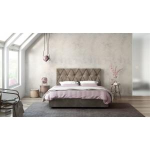 Ντυμένο Κρεβάτι Rhombus 160x200 Με Αποθηκευτικό Χώρο