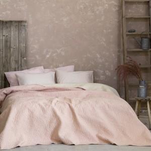 Κουβερλί Υπέρδιπλο Foglie - Pink/Ivory Nima (25515)
