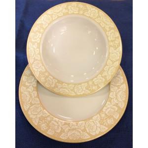 Σερβίτσιο Πιάτων 72 Τεμαχίων Romantic Ivory