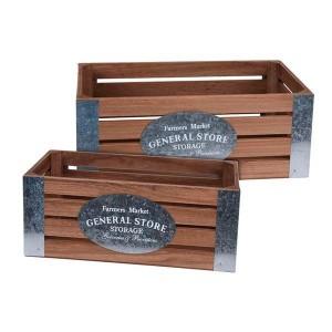 Σετ 2τμχ ξύλινα καφάσια HZ1910530