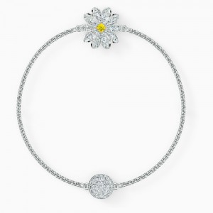 Swarovski Βραχιόλι Remix Collection Flower Strand, White, Rhodium Plated (5520651)
