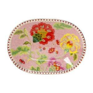 Σετ 6τμχ Πιάτο Πορσελάνινο Γλυκού Κουταλιού 12 Εκ. Floral Pink Cryspo Trio 1422177