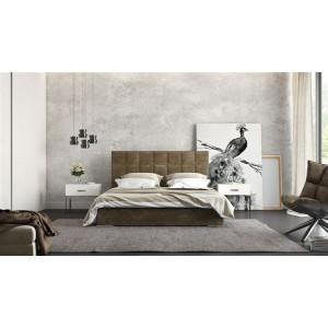 Ντυμένο Κρεβάτι Square 160x200 με Αποθηκευτικό Χώρο