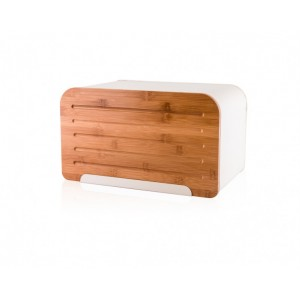 Ψωμιέρα Μεταλλική Με Ξύλινο Πλαίσιο 35x20x21εκ. Marva (489021)