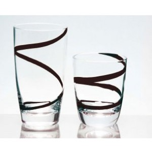 Ποτήρια Νερού 6 τεμαχίων Trio Spiral Black