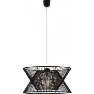 Viokef Φωτιστικό Οροφής Σχοινί Μαύρο Argela (4203700)