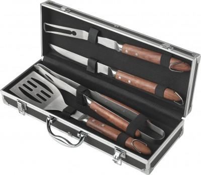 Σετ 4τμχ Barbeque Εργαλεία Σε Βαλίτσα Ανοξείδωτα Marva (52087)