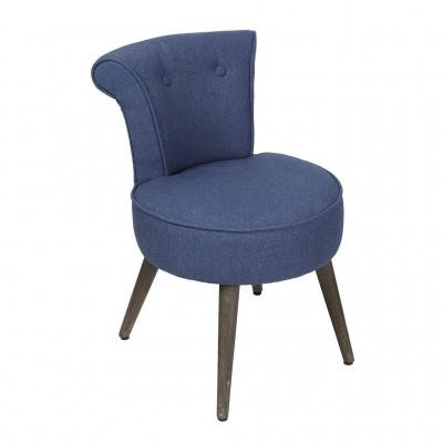 Πολυθρόνα Μπλε Ύφασμα ARM212